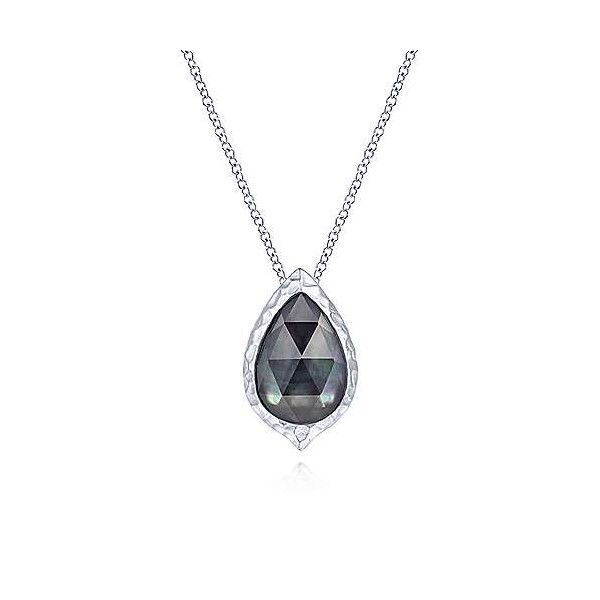 Sterling Silver Rock Crystal And Black MOP Pendant Dickinson Jewelers Dunkirk, MD