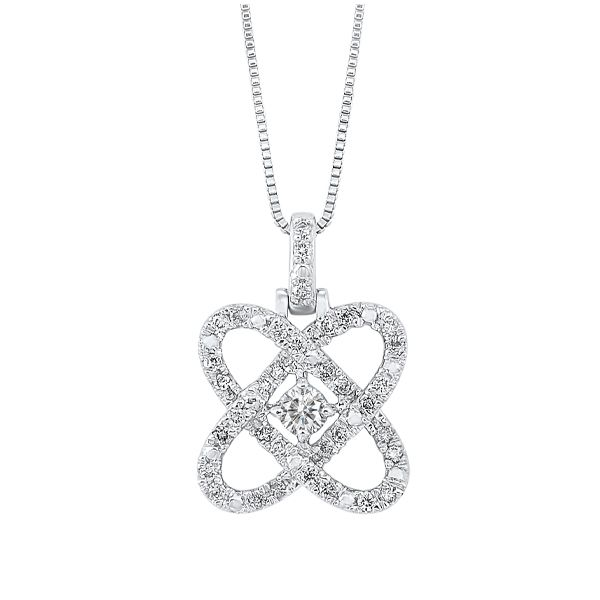 Sterling Silver Diamond Love's Crossing Necklace Dickinson Jewelers Dunkirk, MD