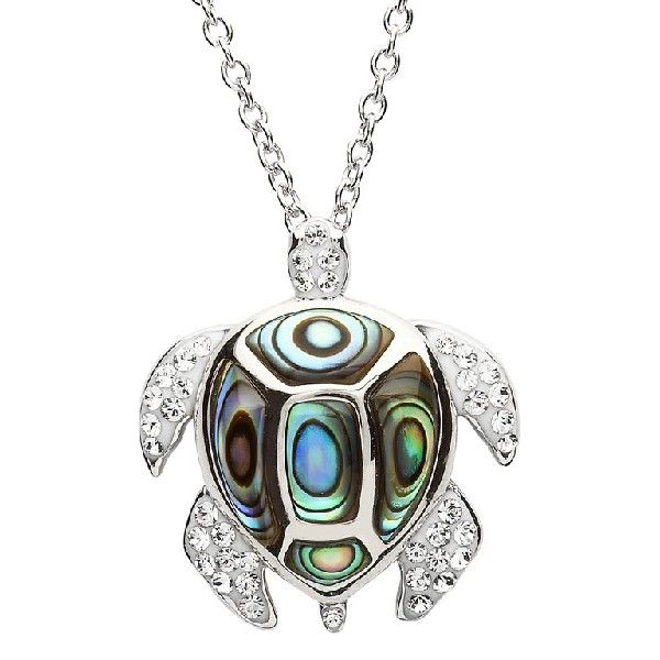 Abalone And Swarovski® Crystals Turtle Pendant Dickinson Jewelers Dunkirk, MD