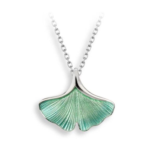 Sterling Silver And Enamel Ginkgo Leaf Pendant Dickinson Jewelers Dunkirk, MD