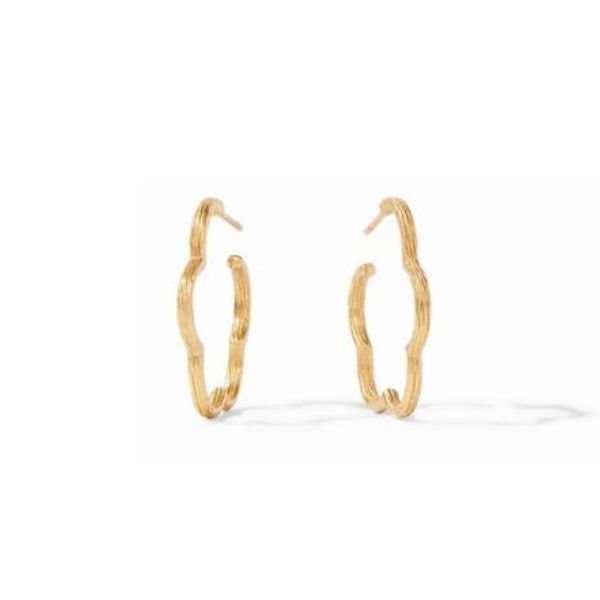 Gardenia Textured Hoop Earrings Dickinson Jewelers Dunkirk, MD