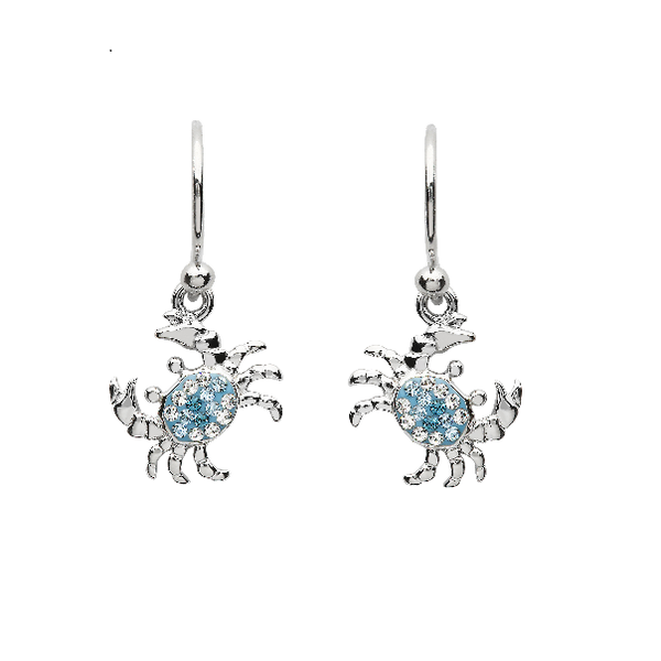 Sterling Silver And Swarovski® Crystal Crab Earrings Dickinson Jewelers Dunkirk, MD