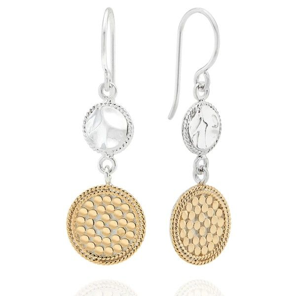 Hammered And Dotted Dangle Earrings Dickinson Jewelers Dunkirk, MD