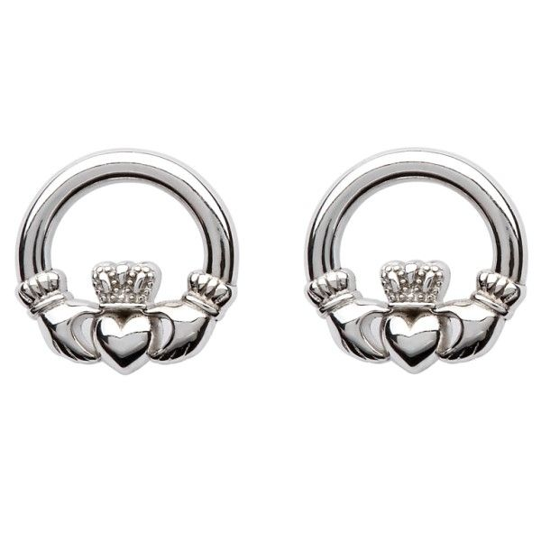 Sterling Silver Claddagh Post Earrings Dickinson Jewelers Dunkirk, MD
