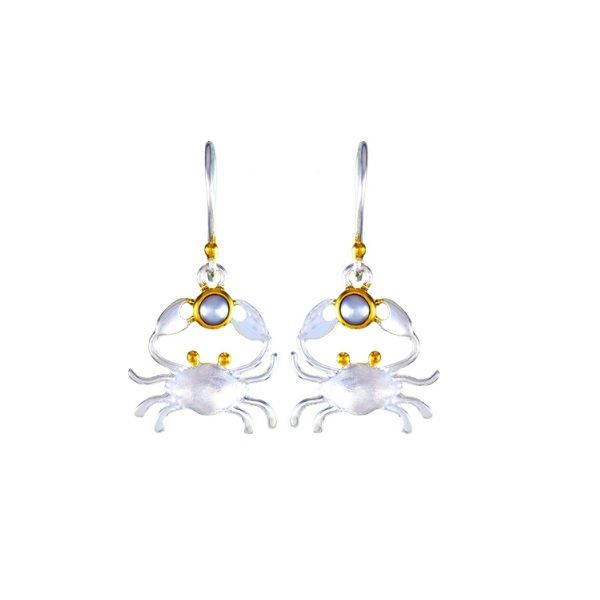 Sterling Silver And Pearl Crab Earrings Dickinson Jewelers Dunkirk, MD