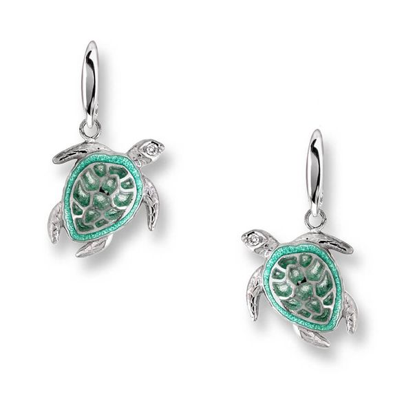 Sterling Silver And Enamel Turtle Earrings Dickinson Jewelers Dunkirk, MD
