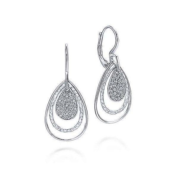Sterling Silver White Sapphire Earrings Dickinson Jewelers Dunkirk, MD