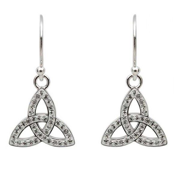 Sterling Silver And Swarovski® Crystal Trinity Earrings Dickinson Jewelers Dunkirk, MD