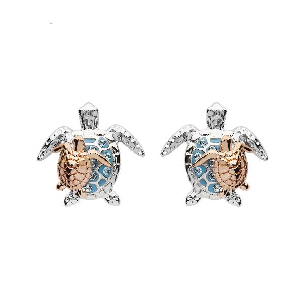 Swarovski® Crystals Mother & Baby Turtle Earrings Dickinson Jewelers Dunkirk, MD