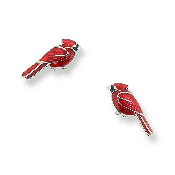 Sterling Silver And Enamel Cardinal Earrings Dickinson Jewelers Dunkirk, MD