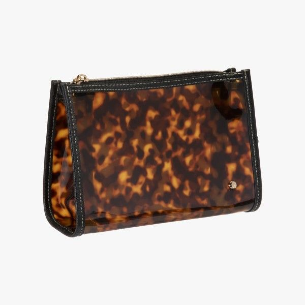 Miami - Clearly Tortoise Zip Cosmetic Bag Dickinson Jewelers Dunkirk, MD