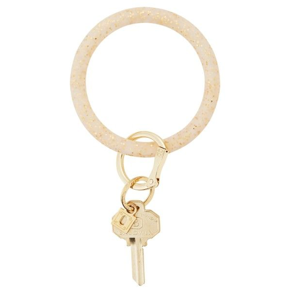 Gold Confetti Big O Silicone Key Ring Dickinson Jewelers Dunkirk, MD