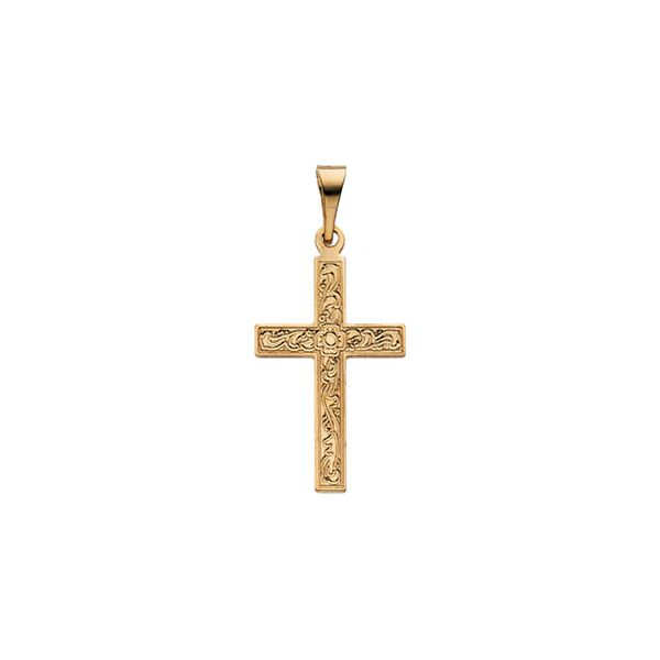 14k Yellow Gold Cross Pendant Dickinson Jewelers Dunkirk, MD