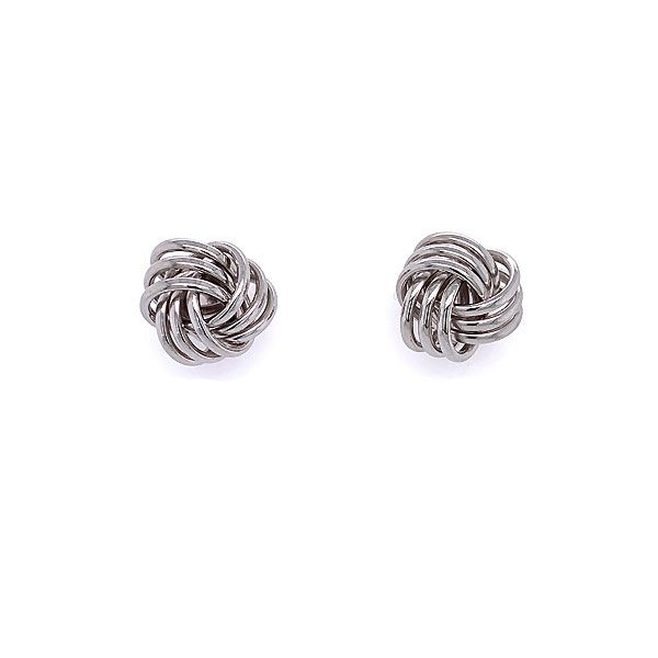 14k White Gold Knot Earrings Dickinson Jewelers Dunkirk, MD