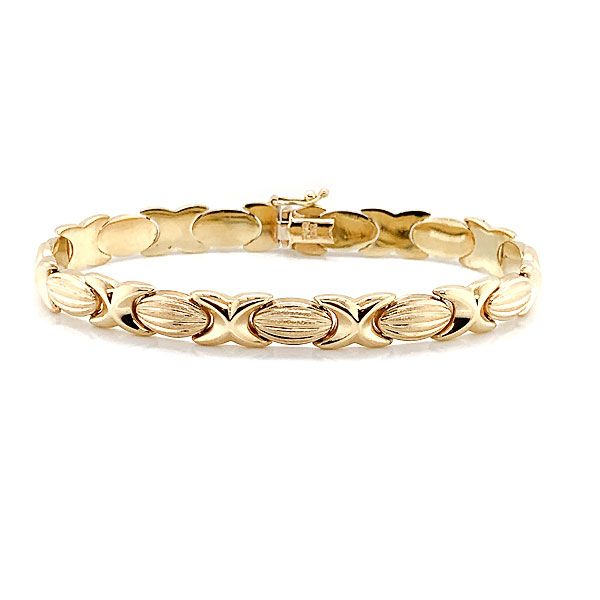 14k Yellow Gold Link Bracelet Dickinson Jewelers Dunkirk, MD