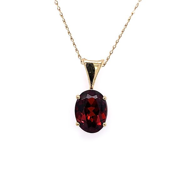 14k Yellow Gold Garnet Pendant Dickinson Jewelers Dunkirk, MD