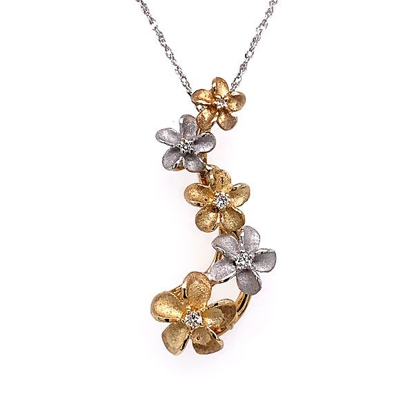 14k Yellow And White Gold Plumeria Denny Wong Necklace Dickinson Jewelers Dunkirk, MD