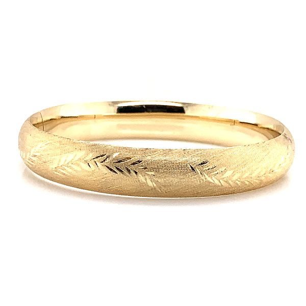 14k Yellow Gold Bangle Bracelet Dickinson Jewelers Dunkirk, MD