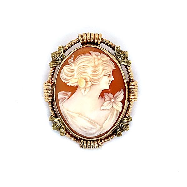 10k Yellow Gold Cameo Pin Dickinson Jewelers Dunkirk, MD