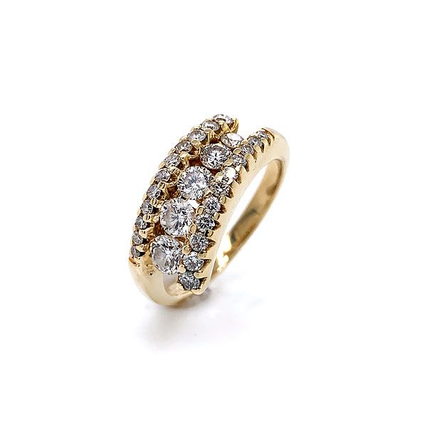 14k Yellow Gold Diamond Bypass Ring Dickinson Jewelers Dunkirk, MD