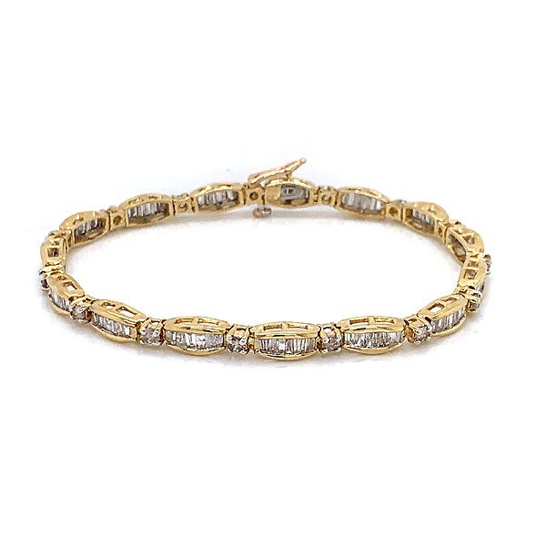 14k Yellow And White Gold Diamond Bracelet Dickinson Jewelers Dunkirk, MD