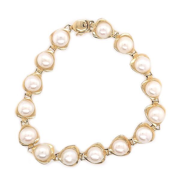 14k Yellow Gold Freshwater Pearl Bracelet Dickinson Jewelers Dunkirk, MD
