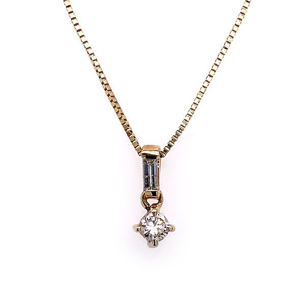 14k Yellow Gold Diamond Pendant Dickinson Jewelers Dunkirk, MD