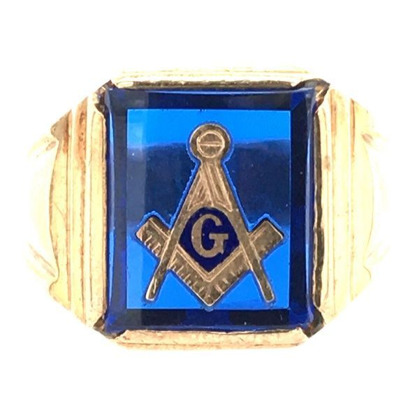 Estate 10k Gold Masonic Ring Dickinson Jewelers Dunkirk, MD