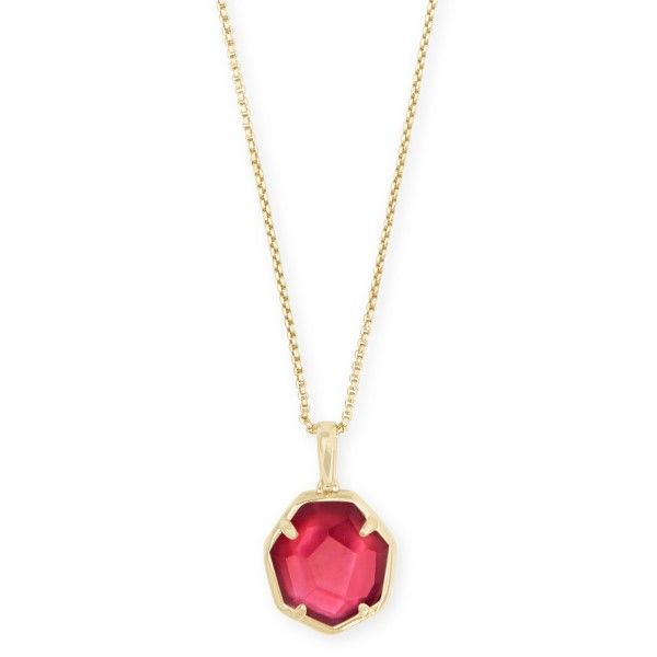 Kendra Scott Cynthia Gold Long Pendant Necklace In Berry Illusion Dickinson Jewelers Dunkirk, MD