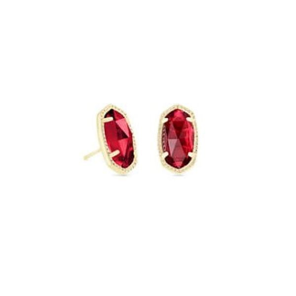 Kendra Scott Ellie Gold Stud Earrings In Clear Berry Dickinson Jewelers Dunkirk, MD