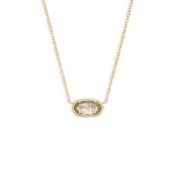 Elisa Gold Pendant Necklace In Clear Crystal Dickinson Jewelers Dunkirk, MD
