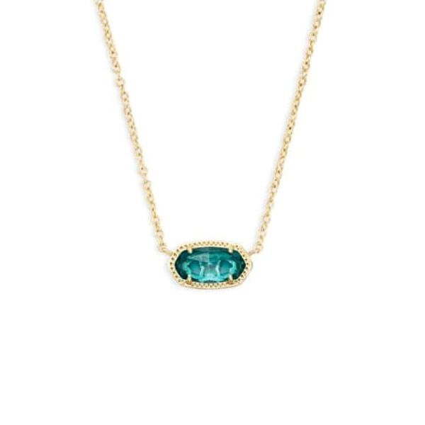 Elisa Gold Pendant Necklace In London Blue Dickinson Jewelers Dunkirk, MD