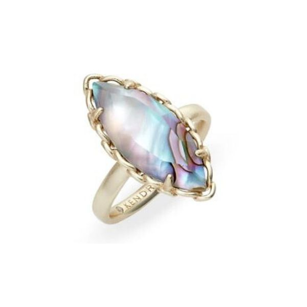 Kendra Scott Gwenyth Cocktail Ring In Nude Abalone - Size 8 Dickinson Jewelers Dunkirk, MD