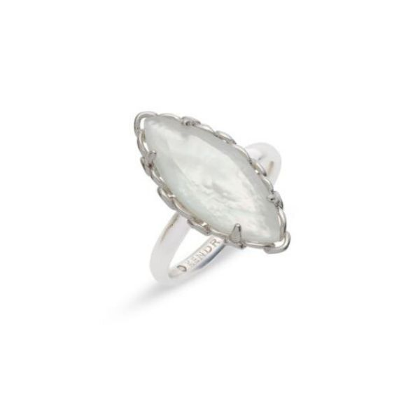 Kendra Scott Gwenyth Cocktail Ring In Ivory Mother-Of-Pearl - size 6 Dickinson Jewelers Dunkirk, MD