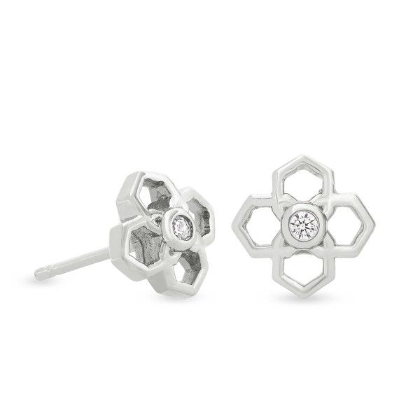 Kendra Scott Rue Stud Earrings In Silver Dickinson Jewelers Dunkirk, MD