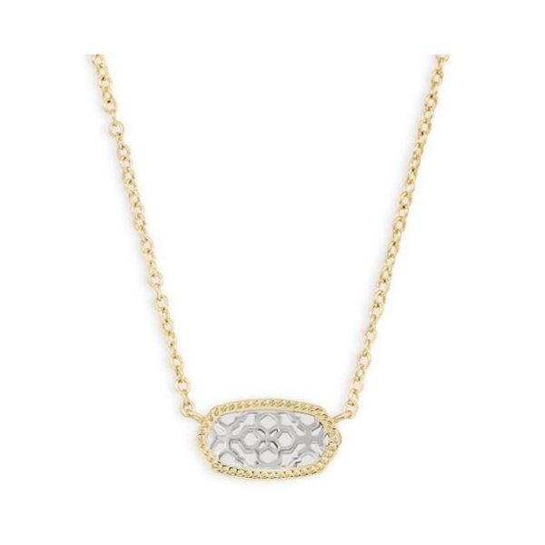 Kendra Scott Elisa Gold Pendant Necklace In Silver Filigree Dickinson Jewelers Dunkirk, MD