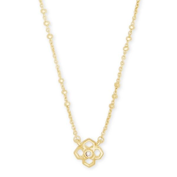 Kendra Scott Rue Pendant Necklace In Gold Dickinson Jewelers Dunkirk, MD