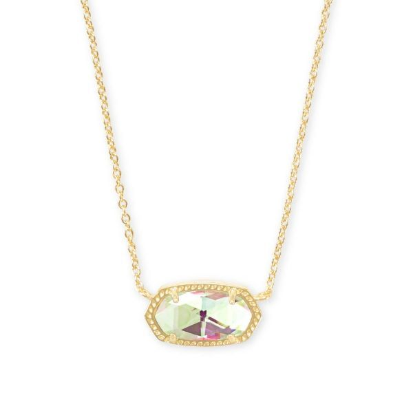 Kendra Scott Elisa Gold Pendant Necklace In Dichroic Glass Dickinson Jewelers Dunkirk, MD