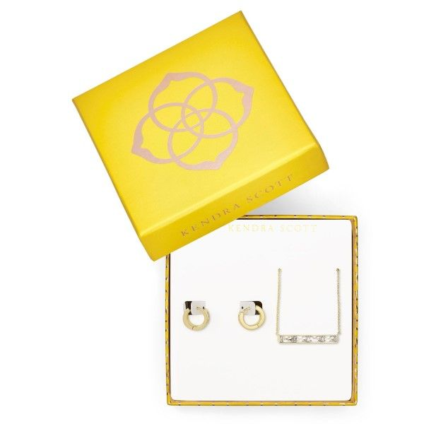 Kendra Scott Gift Box Set In White Crystal Dickinson Jewelers Dunkirk, MD
