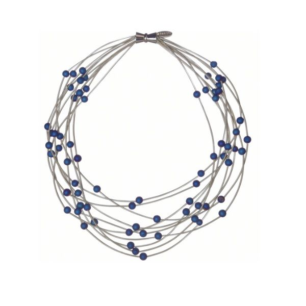 Piano Wire Blue Geode Necklace Dickinson Jewelers Dunkirk, MD