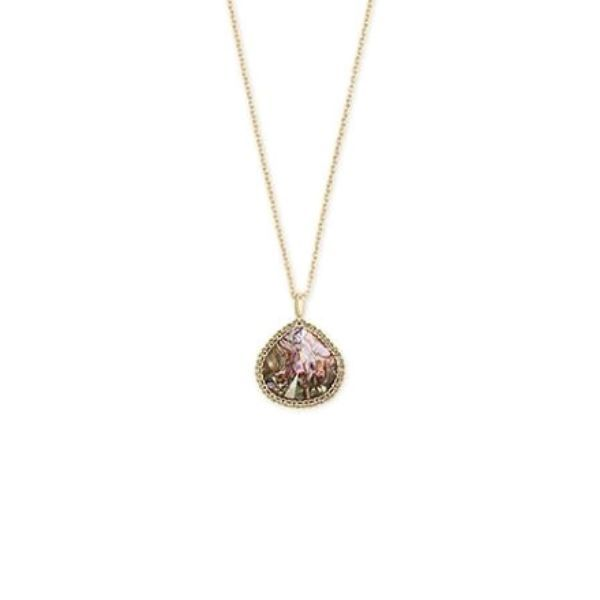 Kendra Scott Kenzie Yellow Gold Pendant Necklace In Nude Abalone Dickinson Jewelers Dunkirk, MD