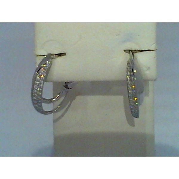 Diamond hoop earrings Discovery Jewelers Wintersville, OH