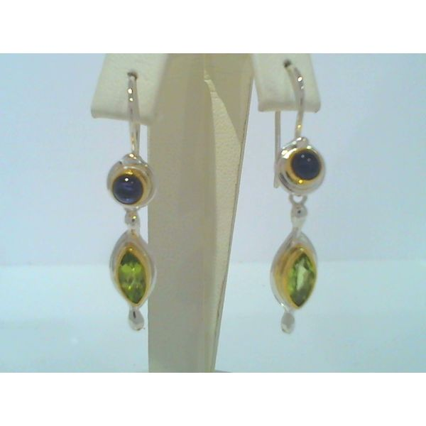 Silver earings with stones of any kind Discovery Jewelers Wintersville, OH