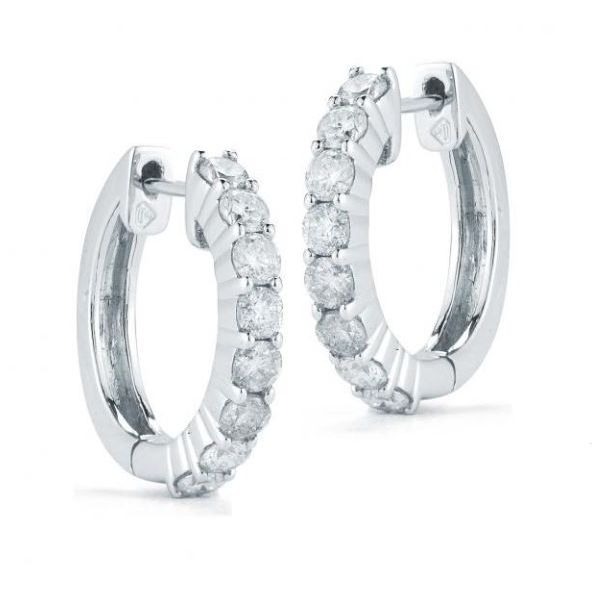 Diamond Hoop Earrings Doland Jewelers, Inc. Dubuque, IA