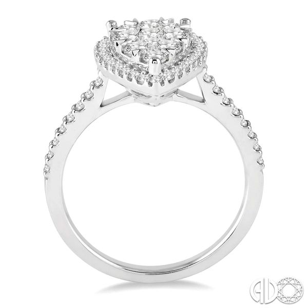 PEAR-SHAPED CLUSTER/HALO RING Image 2 Dondero's Jewelry Vineland, NJ