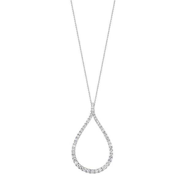 MODERN DIAMOND HOOP PENDANT - SMALL Dondero's Jewelry Vineland, NJ
