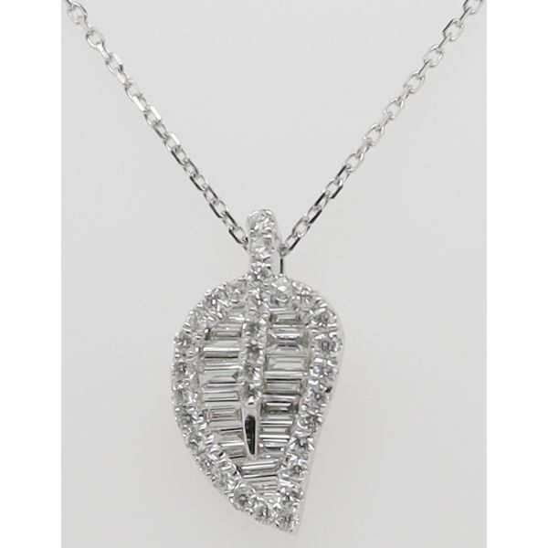 DIAMOND LEAF STYLE PENDANT Dondero's Jewelry Vineland, NJ
