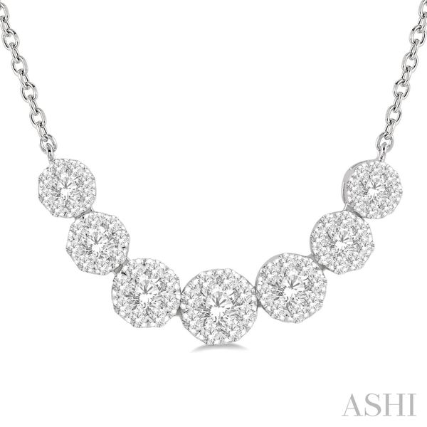 DIAMOND CLUSTER NECKLACE Dondero's Jewelry Vineland, NJ