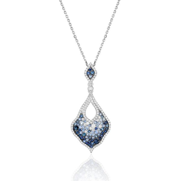 SAPPHIRE and DIAMOND FASHION PENDANT/NECKLACE Dondero's Jewelry Vineland, NJ