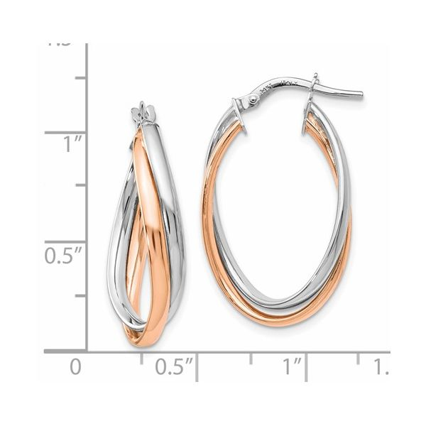 FANCY OVAL HOOP EARRINGS Image 2 Dondero's Jewelry Vineland, NJ